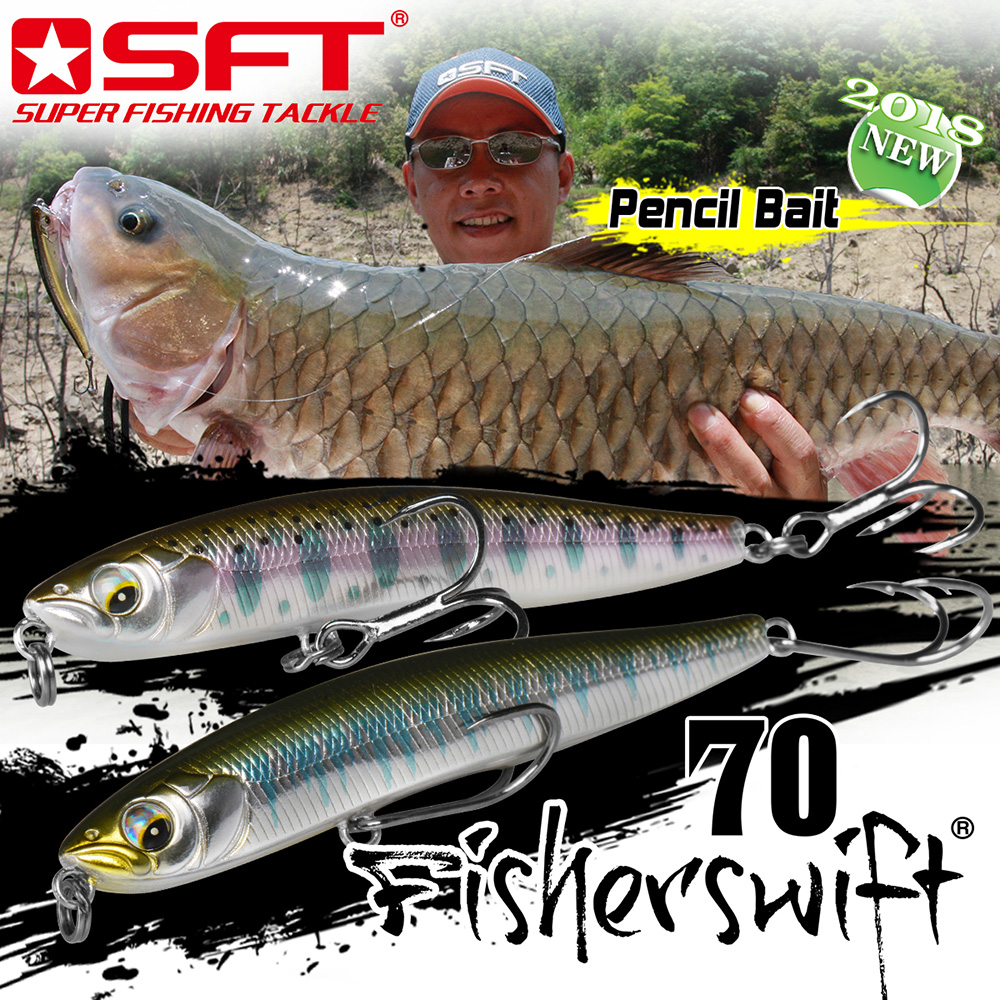 SFT sinking minnow Fishing Lure baits 90mm 17g 70mm 10g Hard Pencil Lures Sinking Artificial Sea Bass Fish Bait