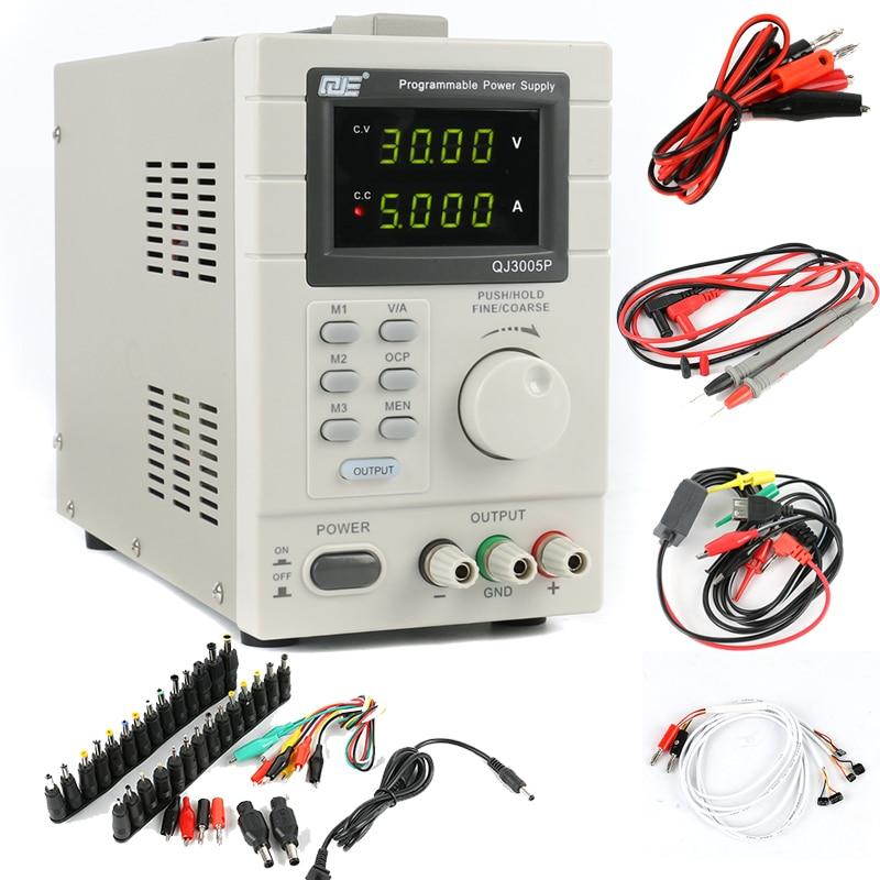 QJ3005P 30V 5A Highly Accurate Adjustable Digital DC-regulated Power Supply Remote Control via PC+DC Jack EU/US/AU Plug autoeye cctv camera power adapter dc12v 1a 2a 3a 5a ahd camera power supply eu us uk au plug