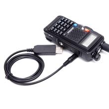 Talkie walkie batterie USB chargeur câble pour BAOFENG UV 5R batterie BL 5 R9 USB câble de charge pour BF UVB3Plus BF UVB3
