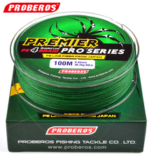PRO BEROS 100M Fishing Line Red/Green/Grey/Yellow/Blue Braided Pesca Fishing Line Available 6LB-100LB PE Line With Green Package