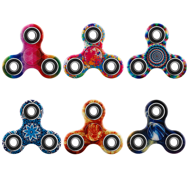 Hand Spinner 27 Patterns Spinners Luminous Fidget EDC Tri-Spinner Finger Toys for Stress Autism ADHD Spinner-hand Fast Bearing
