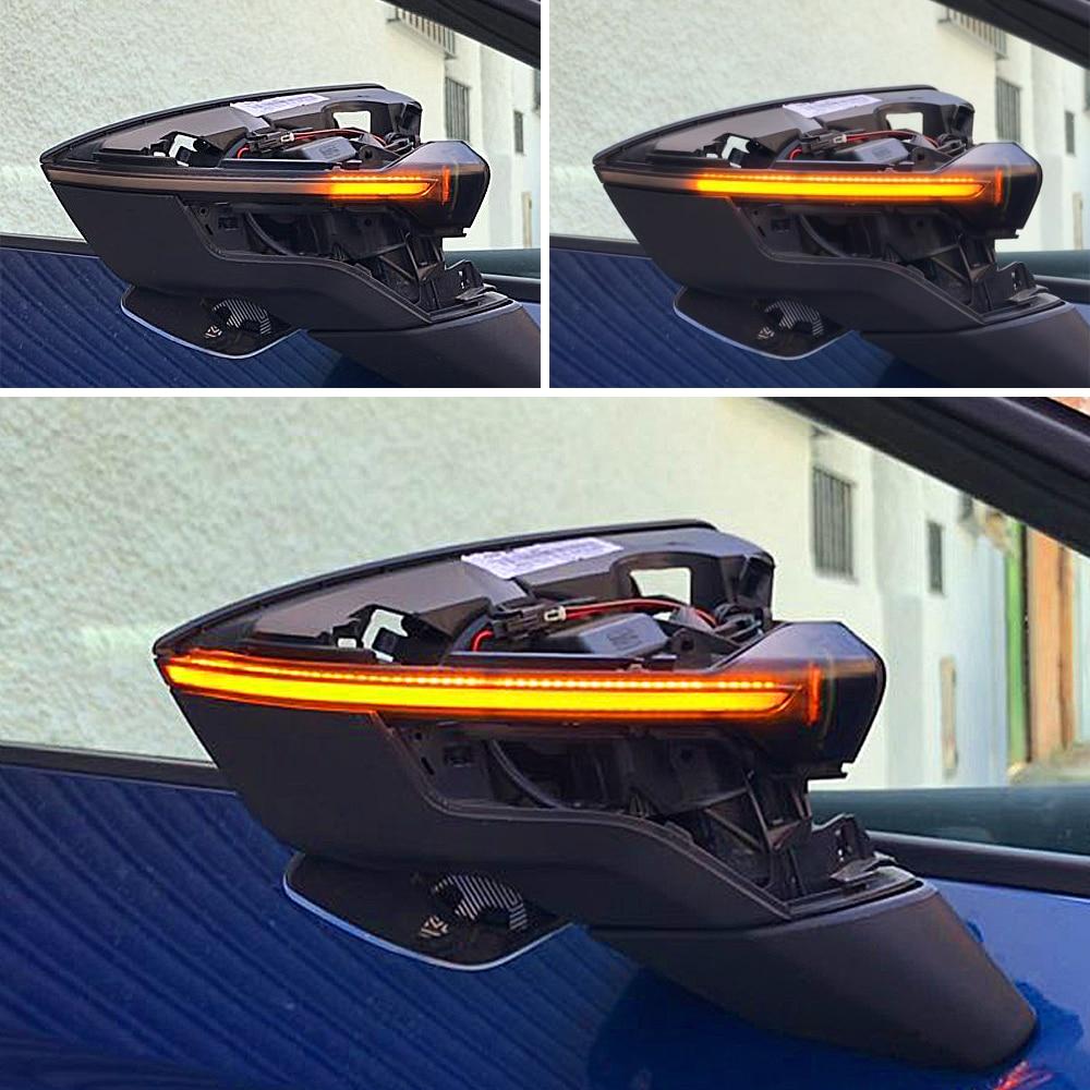 For SEAT Leon III Mk3 5F 13-18 Ibiza KJ Mk5 V Arona 17-18 LED Dynamic Turn Signal Blinker Sequential Side Mirror Indicator Light