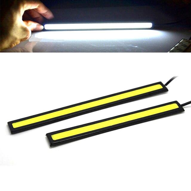 1 pièces 17cm étanche diurne lumière COB DRL LED lampe de voiture lumières externes Auto universel voiture style LED DRL lampe 4