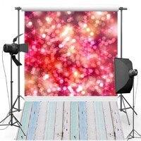 Red Shimmer New Fabric Flannel Photography Background For Wedding Light Floor Vinyl Backdrop For Children photo studio F410