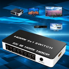 HDMI Switch 5×1 Version 1.4 5 Ports 4Kx2K Switcher HDMI Switch  5 In 1 Out  Version1.4 Switcher Powered IR Wireless Remote