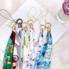 Silk Lanyard personality Pattern Summer Phone Neck Strap High Quality Soft and Comfortable Hang Rope Flowers fruit Straps