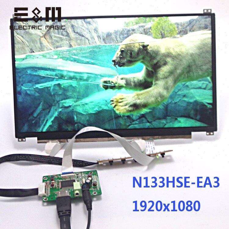 13.3 Inch IPS 1920*1080 FHD Display HDMI EDP Drive Board Car Raspberry Pi 3 Zero 1080P Screen LCD Monitor Module DIY Kit