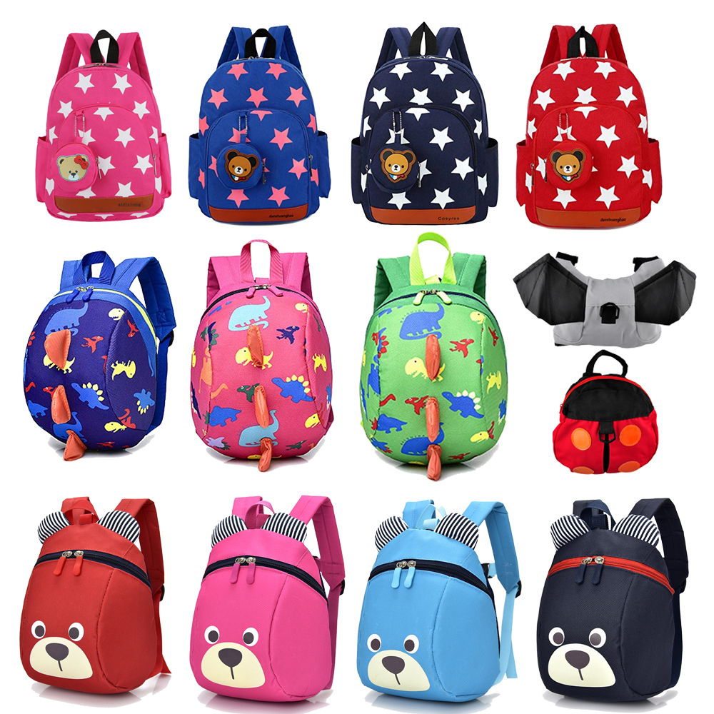 Kids Baby Backpack For School With Traction Rope Harness Children Backpacks Waterproof Girl School Backpack Bag For Baby Girl