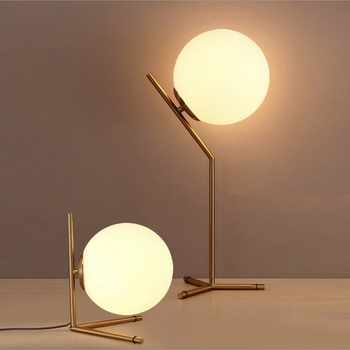 Modern LED glass ball desk lamp for dining room hotel bedside reading art design table study office Decorative lights - DISCOUNT ITEM  36% OFF All Category