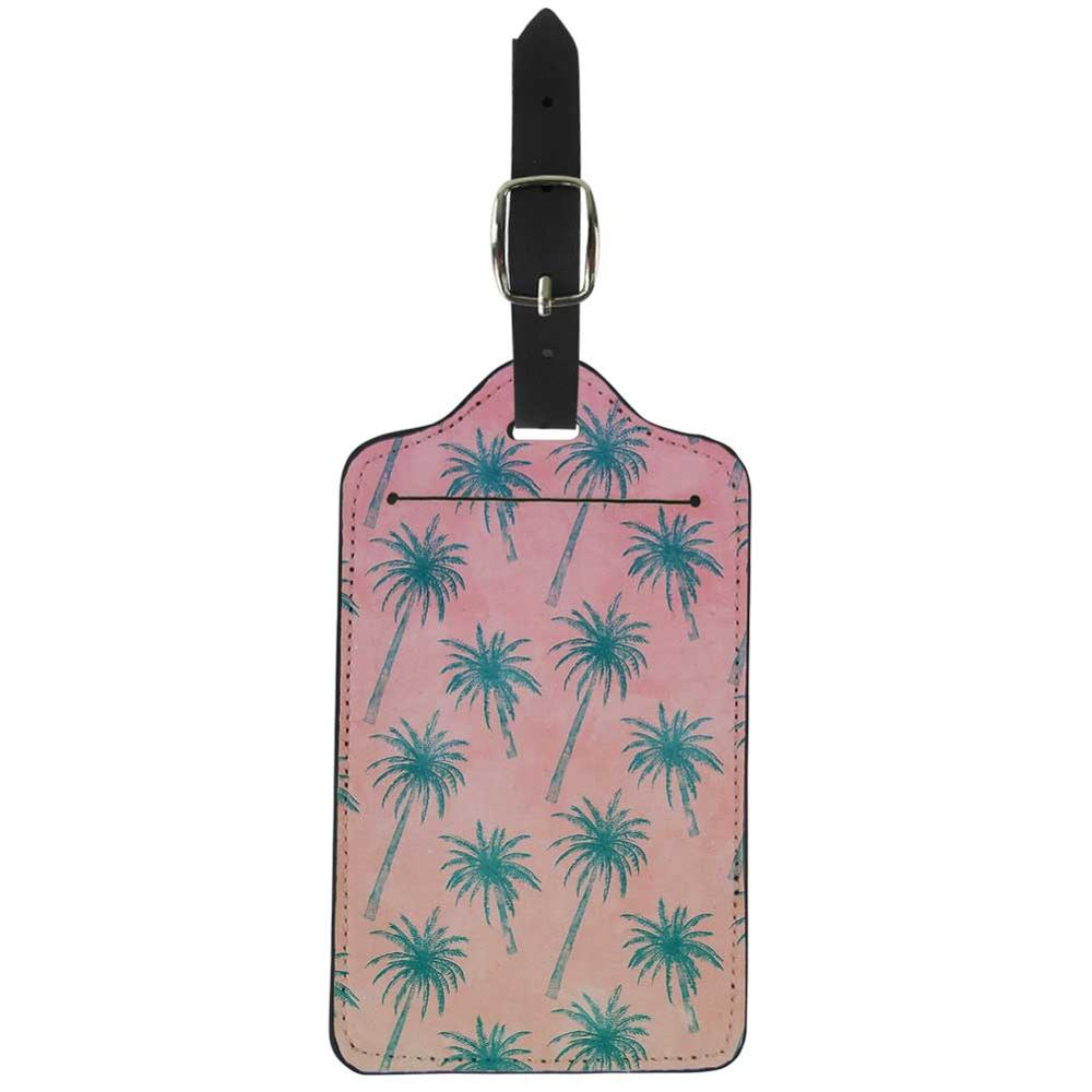 NOISYDESIGNS Suitcase ID Addres Holder Portable Label Palm Tree Printing Luggage Tags Travel Accessories ID Cards Partable