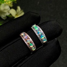 shilovem 925 sterling silver Natural opal Ring fine Jewelry Customizable women trendy wedding  open wholesale yhj030301ago