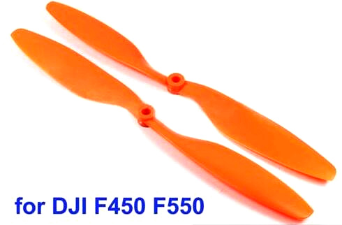 4pair 10x4.5 1045/R CW CCW orange Propeller,Multi-Copter clockwise rotating&counter for F450 F550