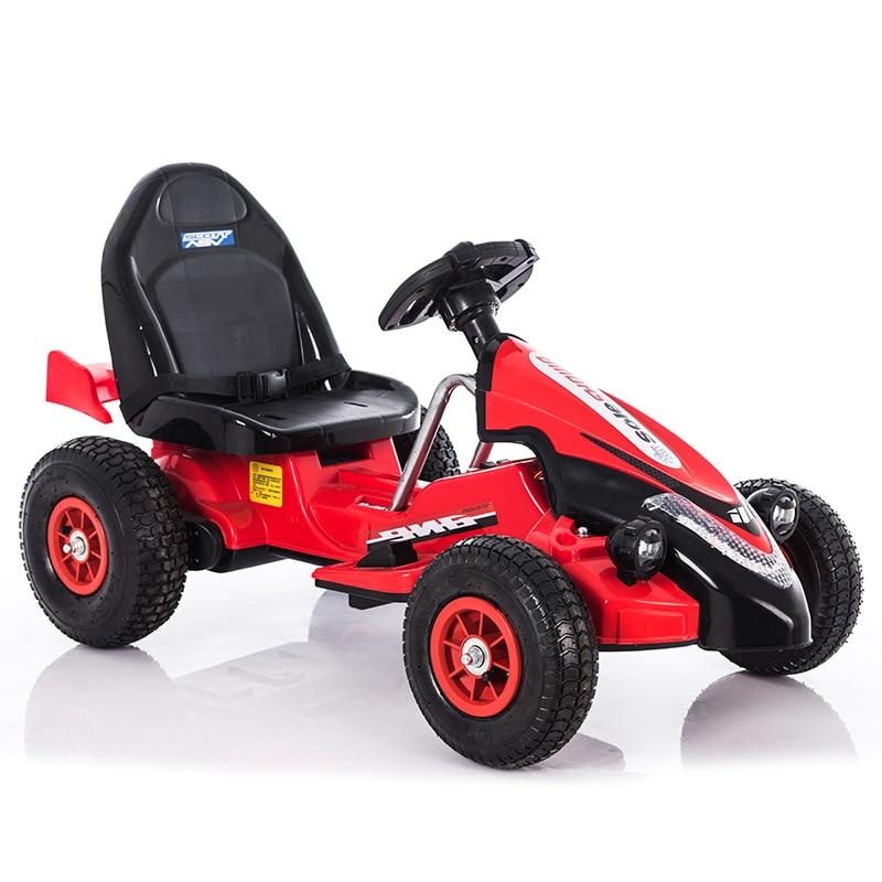 Детский Электрический автомобиль с двойным приводом четырехколесный надувной резиновый шиномонтажный привод kart пульт дистанционного упр...