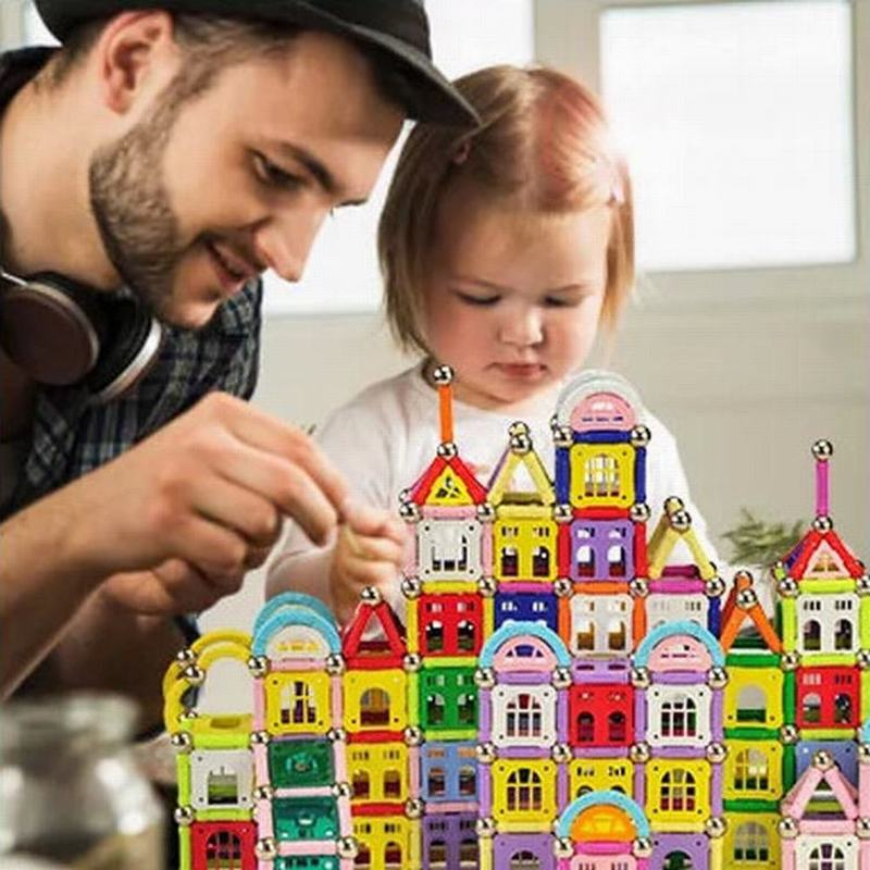 645pcs/Set Magnetic Sticks Block Early Education Building Blocks Bricks Intelligence Toys Magnet Blocks for Children Kids Toy 9656 early simple machines set