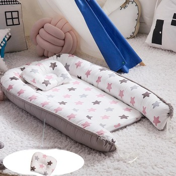 Baby Pillow With Head Protection And Sleep Positioner Anti Roll Cushion For Toddler