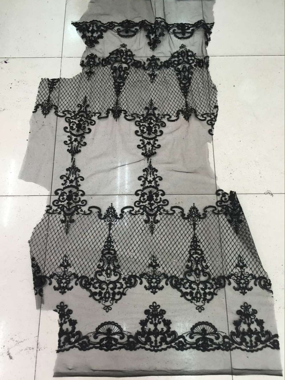 Nigeria wedding fabric LJY 6106 for high quality French embroidered net lace fabric