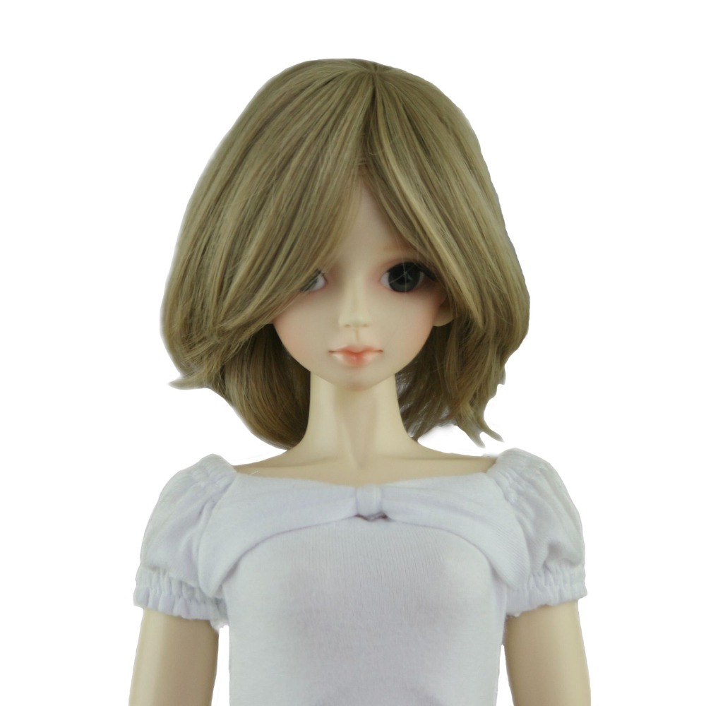 [wamami] 47# Flaxen Short Wig For 1/4 MSD AOD DOD DZ BJD Doll Dollfie 8-9 inch [wamami] 529 yellow plaid shirt 1 4 sd dz aod dod bjd dollfie doll