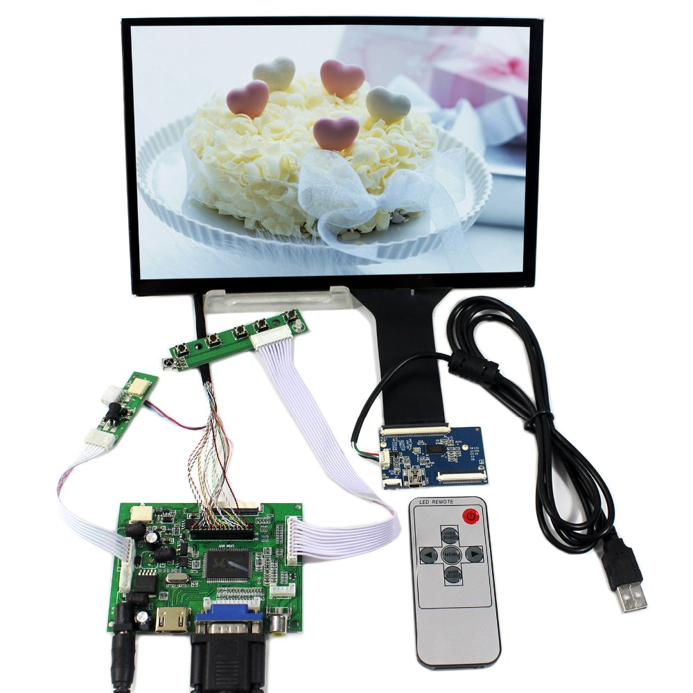 HDMI VGA 2AV LCD Controller Board+10.1 B101UAN02.1 1920x1200 Capacitive Touch Screen hdmi vga 2av lcd controller board with 7inch n070icg ld1 39pin reversal1280x800 ips touch lcd