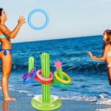 5 шт. надувная перекрестная игра, одевание колец плавательные игры в бассейне игрушки для взрослых детей Летние Водные пляжные вечерние реквизит надувной матрас