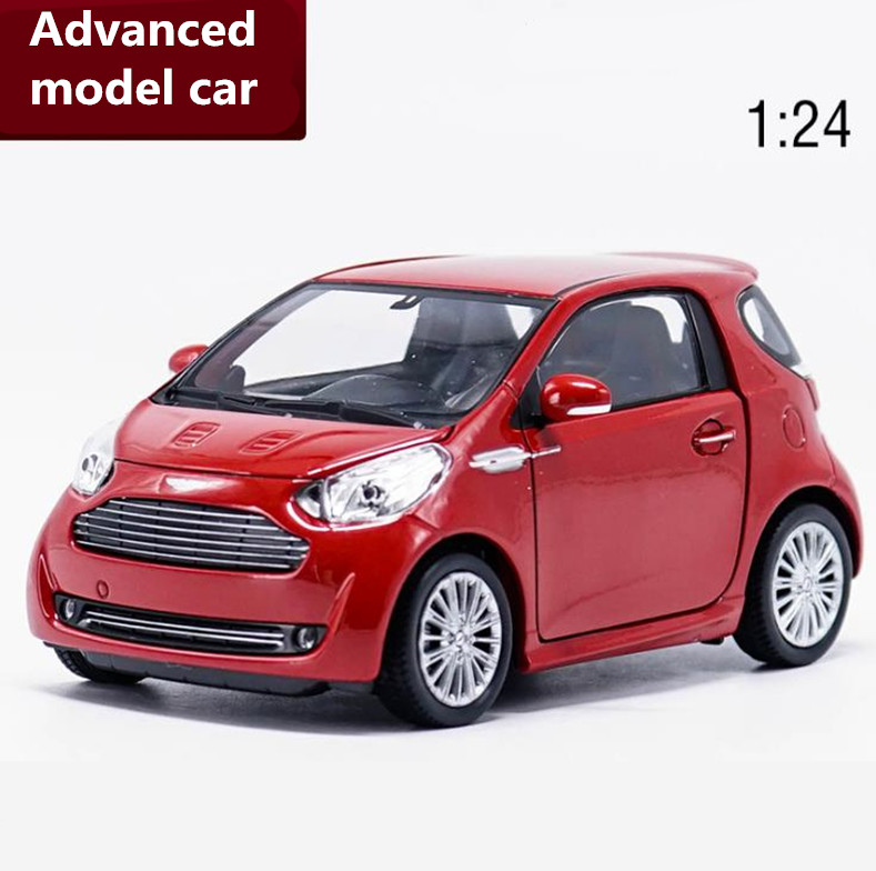 1:24 scale Aston Martin Cygnet alloy sliding car model diecast metal toy vehicles 2 open doors collection model free shipping
