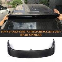 For VW Golf 7 VII GTI MK7 R 2014 2017 Rear Spoiler Non for Volkswagen Golf 7 Standard & R Line Carbon Fiber Roof Spoiler