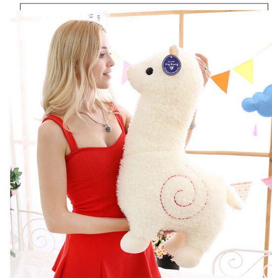 Grand 65 cm blanc alpaga moutons doux poupée beau dessin animé alpaga en peluche jouet étreignant oreiller cadeau d'anniversaire h2367