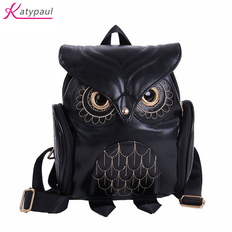 Fashion Brands Mochila Sac A Dos Golden Owl Bag Backpack Golden Women School Bags For Teenagers Girls PU Leather Women Backpack women backpack soft leather large capacity casual travel backpack school bags for girls student bookbag mochila mujer sac a dos