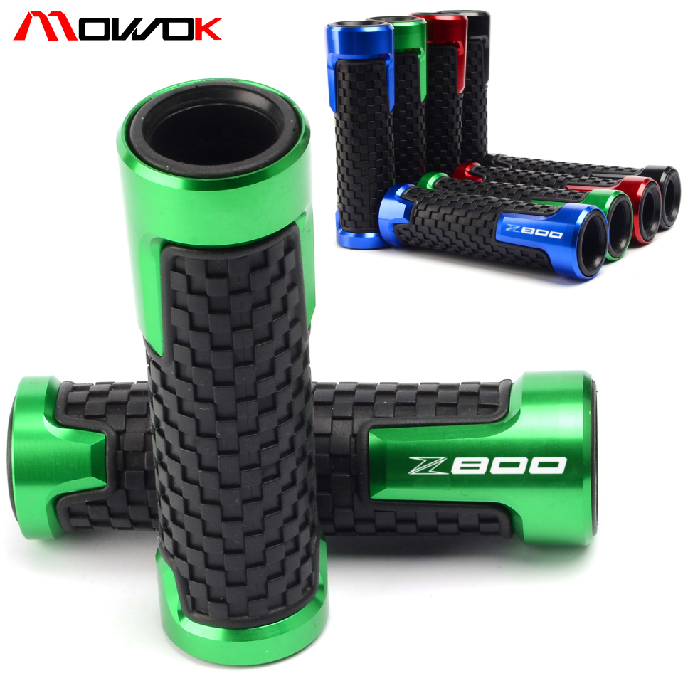 Motorcycle CNC Aluminum+ Rubber Handle Grips Motorbike Handlebar For KAWASAKI Z800 2013 2014 2015 2016(China)