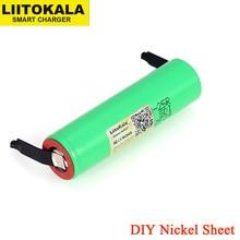 LiitoKala nuova batteria originale 18650 2500mAh discharge 3.6V scarica 20A batterie dedicata foglio di nichel fai da te