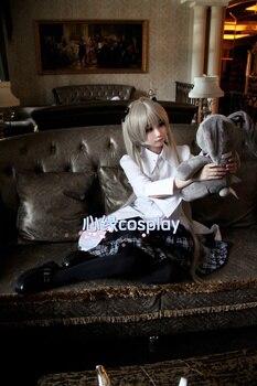 Anime Yosuga no Sora Kasugano Sora Cosplay Costume Lolita Dress Outfit+Wig+Rabbit Plush Toy Halloween Party Costumes for Women 2