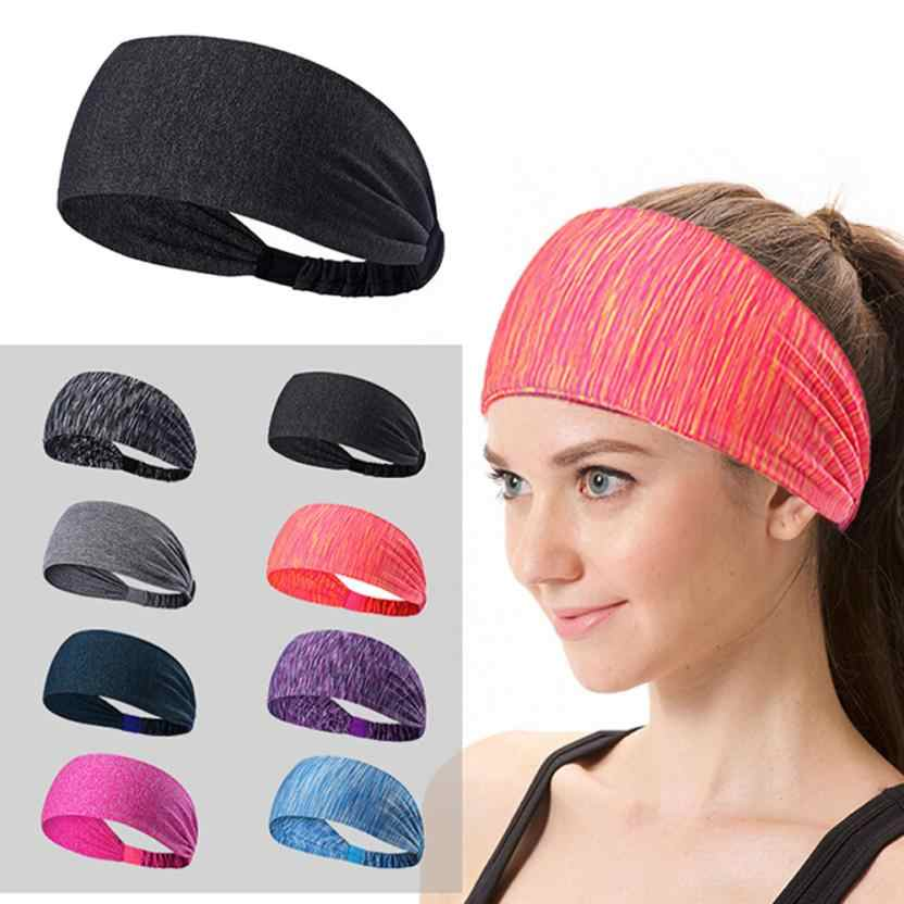 Women Sweatband Sports Headband Stretch Elastic Yoga Running Headwrap Fitness Sports safety 0815