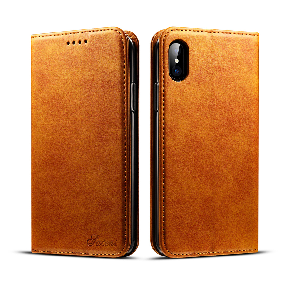 !ACCEZZ Luxury Leather Phone Case Card Pocket Full Protective Cover For iphone X XS MAX XR Wallet Flip Cases Shell Stand Holder (3)