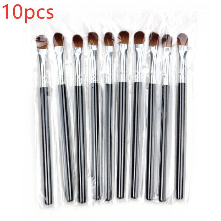 10pcs small eye shadow brush lip beauty tools Nylon Plastic Eye Brush Shadow Tool Handle Black Makeup Kits