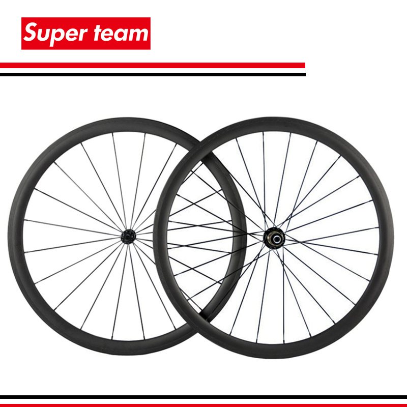 100 T700C carbon 38mm clincher wheelset 700C road bike wheels matte rims