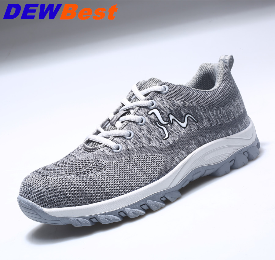 cc6daa91107 US $29.44 50% OFF Men's Breathable Steel Toe Cap Work Safety Shoes Men  Outdoor Anti slip Steel Puncture Proof Construction Safety Boots Shoes-in  ...