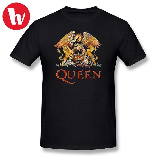 Queen Band Rock T Shirt LOGO Funny T Shirt Men Short Sleeve Cotton Tee Shirt Casual Summer Men\u0026#39;s ...