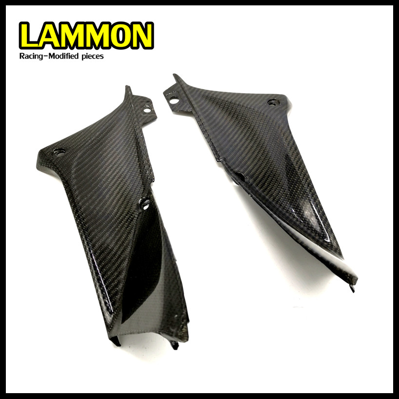 FOR <font><b>Yamaha</b></font> YZF <font><b>R1</b></font> 2002 <font><b>2003</b></font> Motorcycle Parts <font><b>Fairing</b></font> Carbon Fiber Fuel Tank Both Sides Head Tube Side Cover image