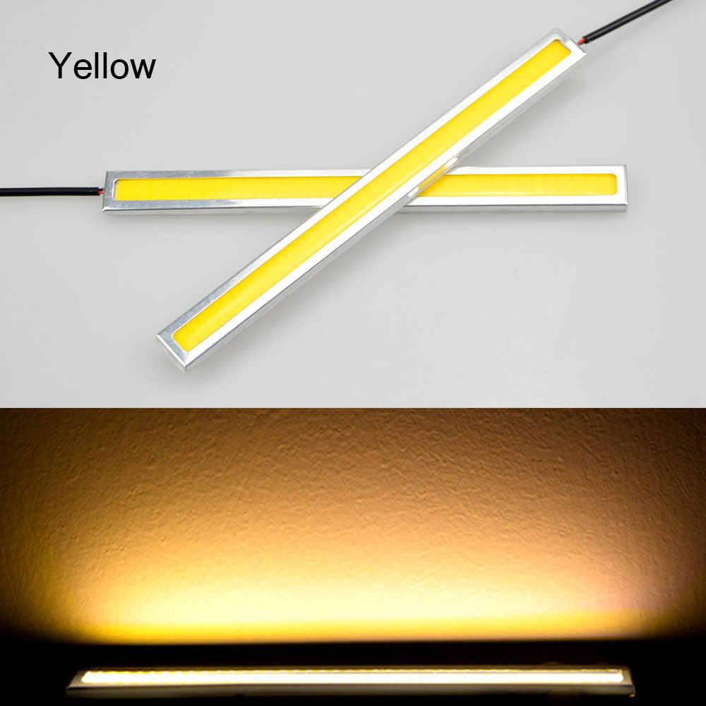 1Pcs Upgrade Ultra Bright COB 17cm LED Auto Bar light Bulb Waterproof Aluminum Silver Shell Daytime Running Driving Fog lamp