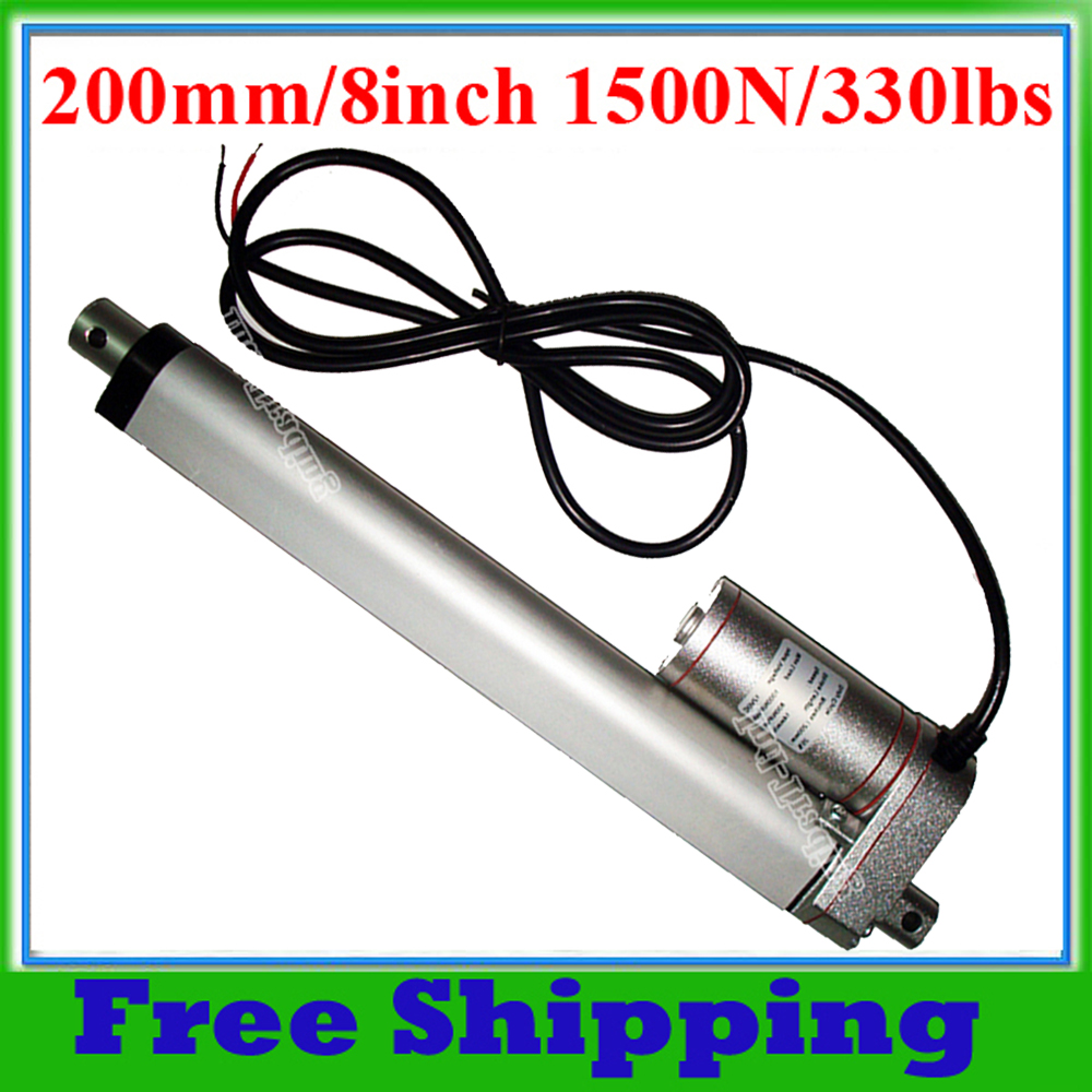 200mm 8 stroke electric linear actuator 1500n 150kg for Window load function