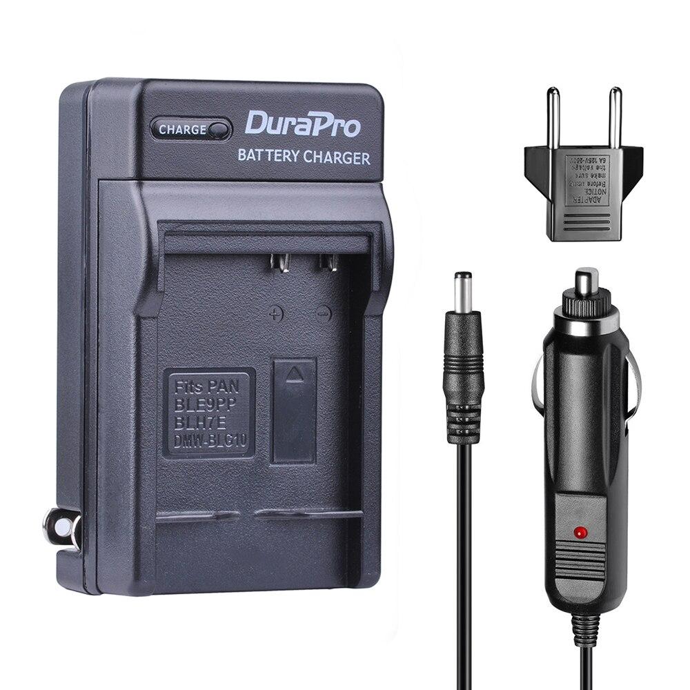 DuraPro DMW-BLG10 DMW BLG10 DMWBLG10 автомобиля Зарядное устройство стены Зарядное устройство + ЕС Разъем для Panasonic Lumix GF5 GF6 GX7 LX100 GX80 GX85 D-Lux