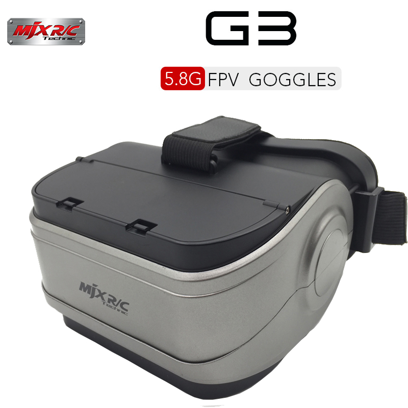 MJX G3 VR Goggles 5.8G FPV Monitor for MJX D43 FPV Receiver Monitor Bugs 6 B6 Brushless Racing Drone Video Goggles RC Part fpv mini 5 8g 150ch mini fpv receiver uvc video downlink otg vr android phone tablet pc fpv mobile phone display receiver