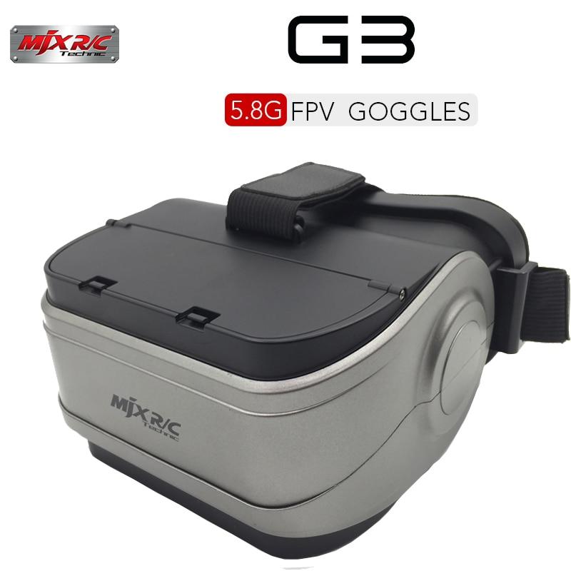 MJX G3 VR Goggles 5.8G FPV Monitor for MJX D43 FPV Receiver Monitor Bugs 6 B6 Brushless Racing Drone Video Goggles RC Part радиоуправляемый квадрокоптер mjx x906t 5 8g fpv x906t mjx