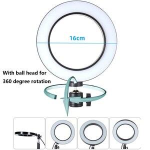Image 4 - 新しいデスクトップマウント携帯電話用スタンド三脚 16 センチメートル LED リングフラッシュランプライトブロガー