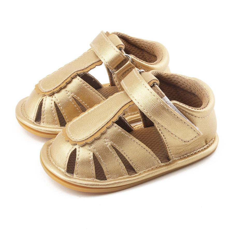 Fashion Sandals Summer Shoes Soft Casual Baby Boys Girls Sandals Shoes Sandal Infantil Baby Toe Cap Covering Sandals A4124