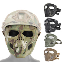 New arrival Halloween mask party game skull tactical equipment fit fast helmet tractical paintball airsoft mask