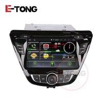 CAR DVD GPS NAVI FOT HYUNDAI ELANTRA 2014 WITH AN 4 4 STEERING WHEEL MIRROD LINK