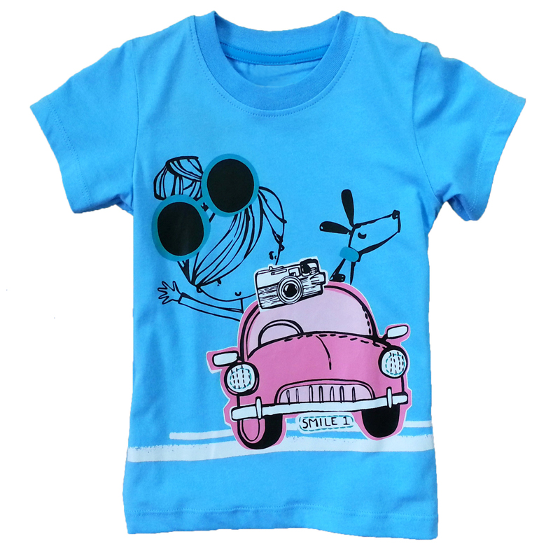Buy special offer 14 style baby clothing Girl t shirts design