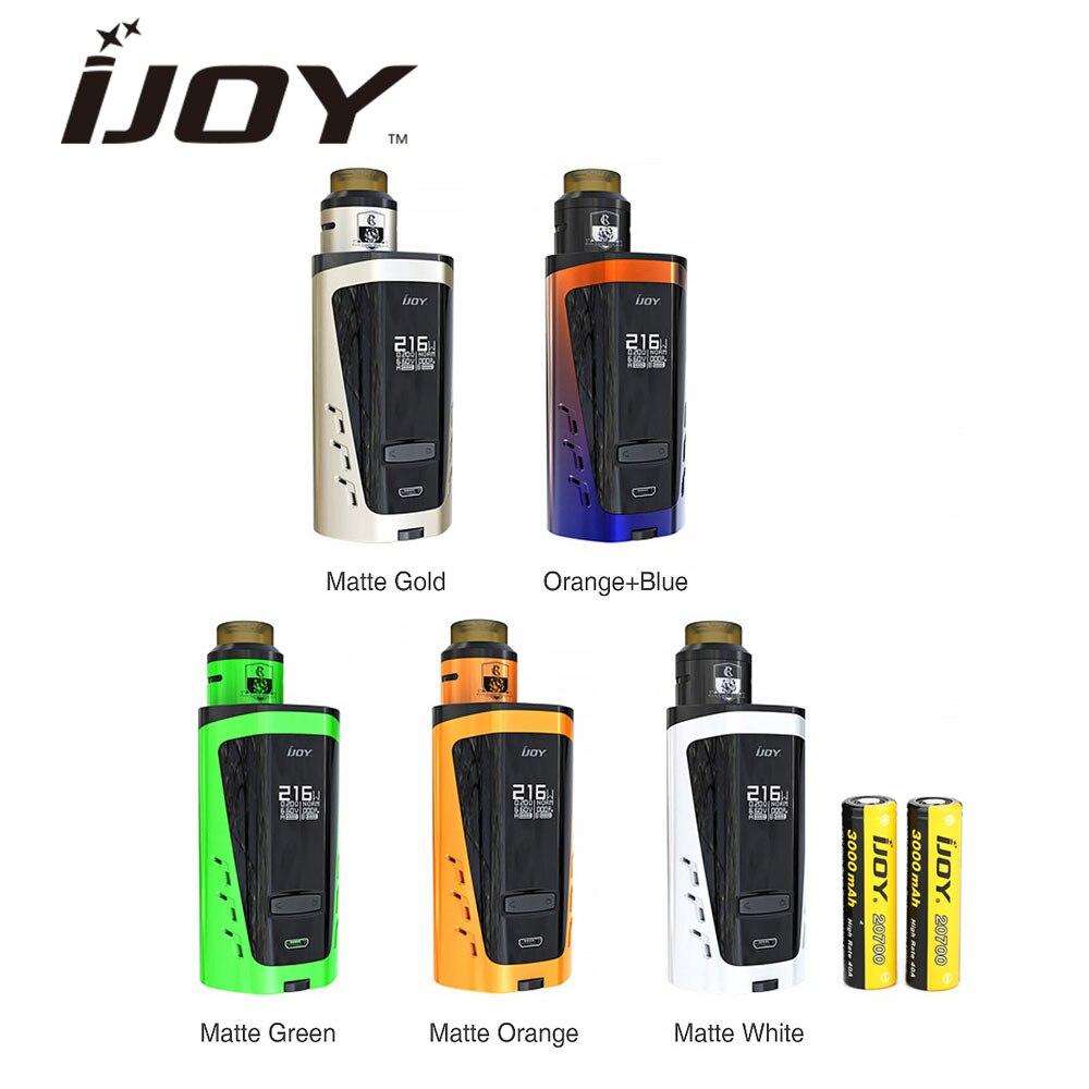 D'origine IJOY CAPO 216 SRDA 20700 Squonker Kit avec 6000 mAh Intégré batterie & COMBO SRDA et Côté de Contrôle Du Flux D'air E-cig Vaporisateur Kit