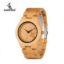 relogio feminino BOBO BIRD Watch Women Top Brand Bamboo Deer Engraving Quartz Wristwatches reloj mujer Ladies Gift in Wooden Box