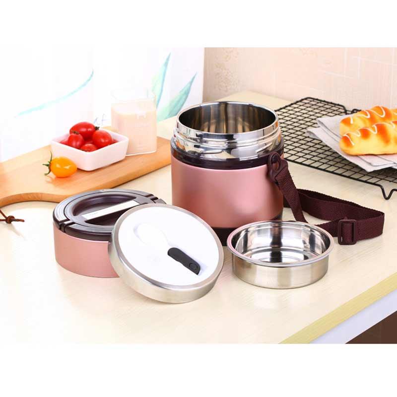 Boîte à Lunch de grande capacité de 1.5L chauffée pour le récipient de nourriture d'acier inoxydable de Bento de bureau pour la vaisselle de boîte à Lunch de Thermo d'école de nourriture